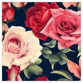 Napkin roses blue