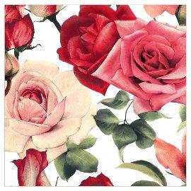 Napkin roses white