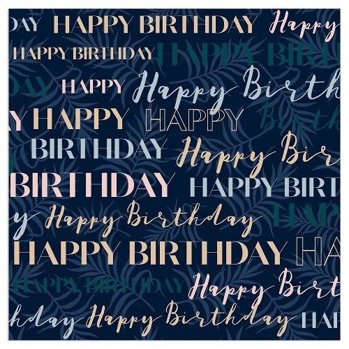 Serviette Geburtstag Happy Birthday Blau