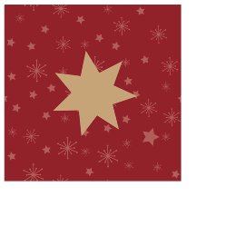 Christmas mini napkin star bordeaux