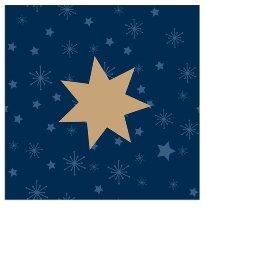 Christmas mini napkin star blue