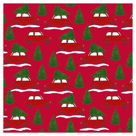 Christmas napkin cars red