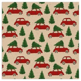 Christmas Organics napkin cars red