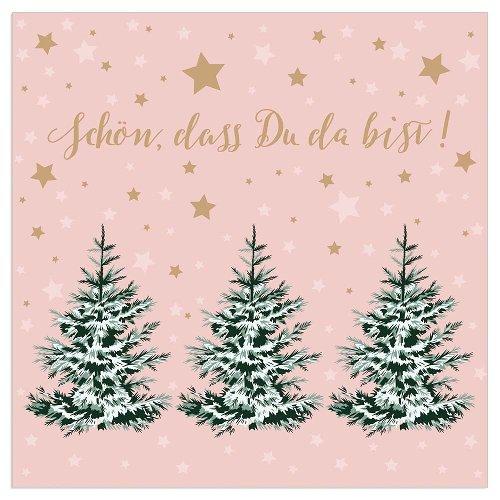 Christmas napkin fir trees nude