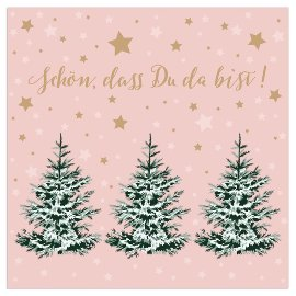 Christmas napkin fir trees nude