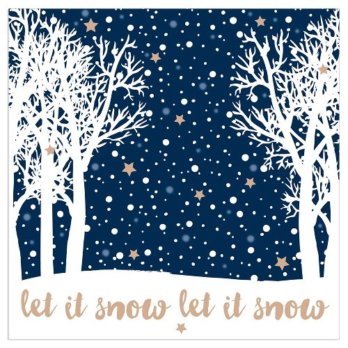 Christmas napkin winter forest blue