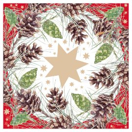Christmas napkin cones red gold