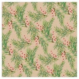 Christmas Organics napkin mistletoes