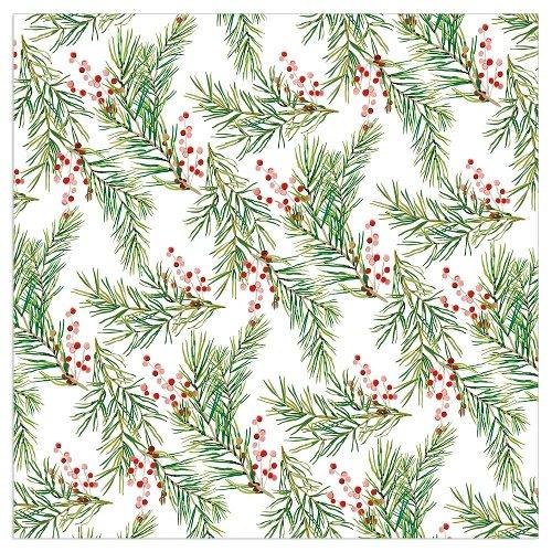 Christmas napkin mistletoes