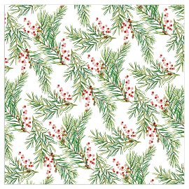 Christmas napkin mistletoes