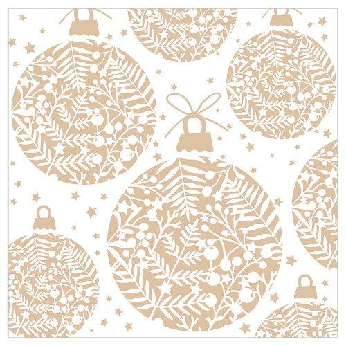Christmas napkin balls white