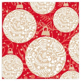 Christmas napkin balls red