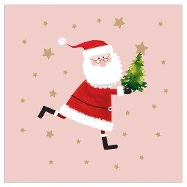 Serviette Weihnachten Santa Nude