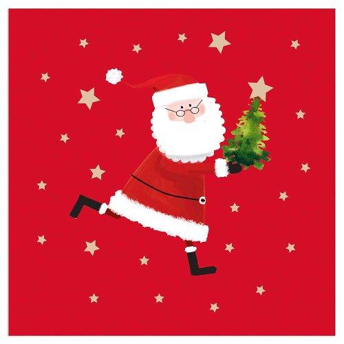 Serviette Weihnachten Santa Rot