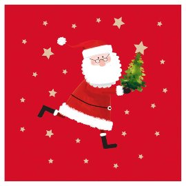 Christmas napkin Santa Red