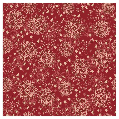 Christmas napkin stars bordeaux