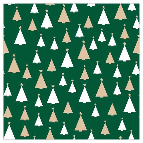 Serviette Weihnachten Tannen Grün