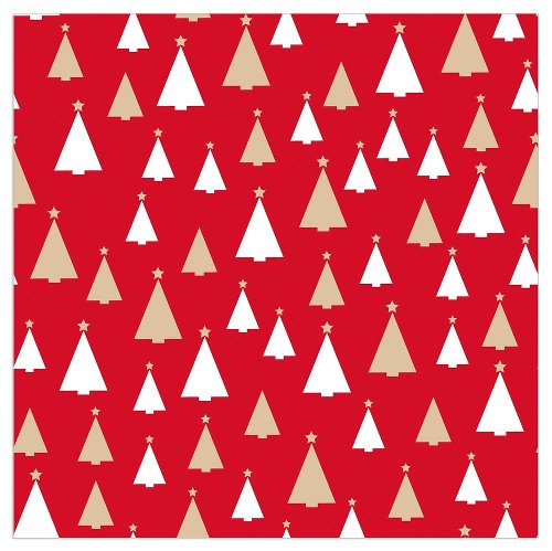 Christmas napkin fir trees red