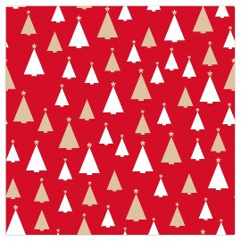 Christmas napkin fir trees red