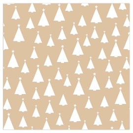 Christmas napkin fir trees gold
