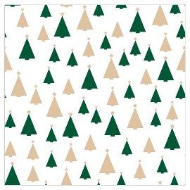 Serviette Weihnachten Tannen Weiß Gold
