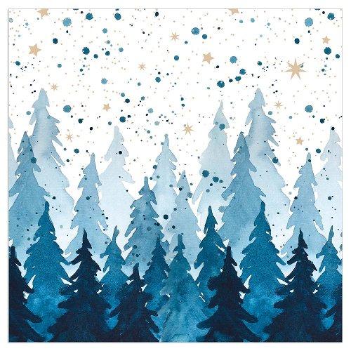 Christmas napkin fir forest blue