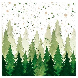 Christmas napkin fir forest green