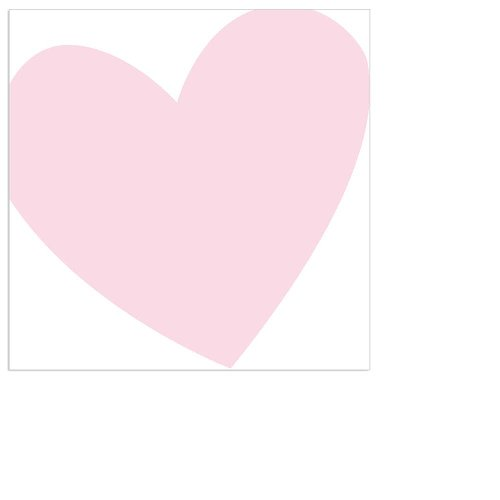 Serviette Mini Herz rosé