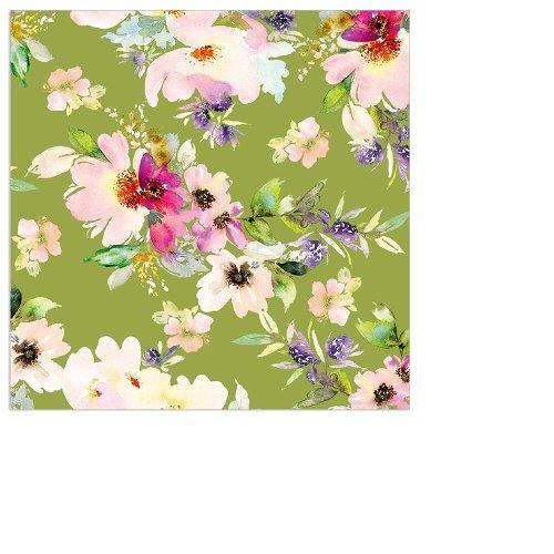 Napkin mini flowers spring green