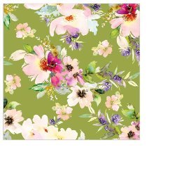 Napkin mini flowers spring green