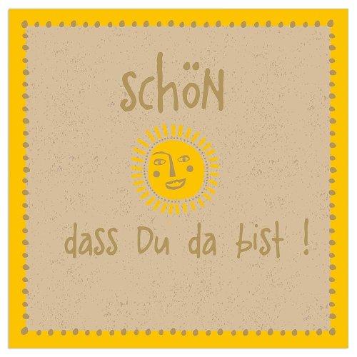 Serviette Organics Sonne Spruch Schön, dass du da bist