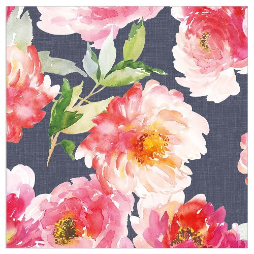 Napkin watercolour flowers grey