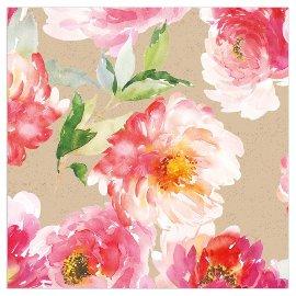 Napkin organics watercolour flowers