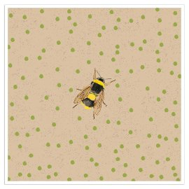 Napkin organics bee dots green