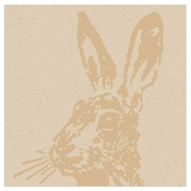 Napkin organics rabbit gold