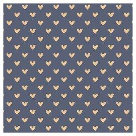 Napkin hearts all over grey
