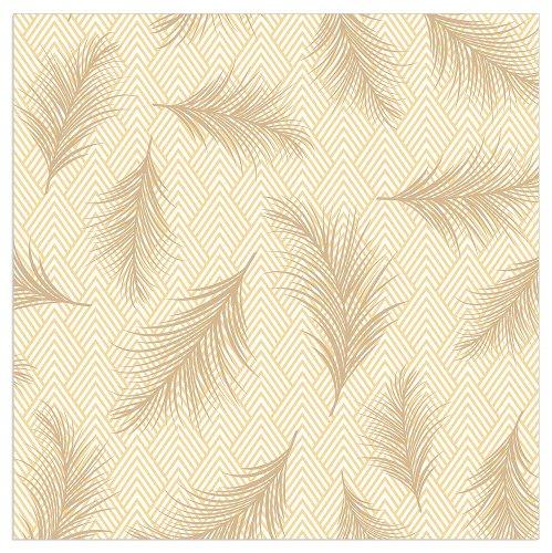 Napkin feather yellow