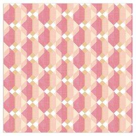 Napkin houndstooth pattern peach
