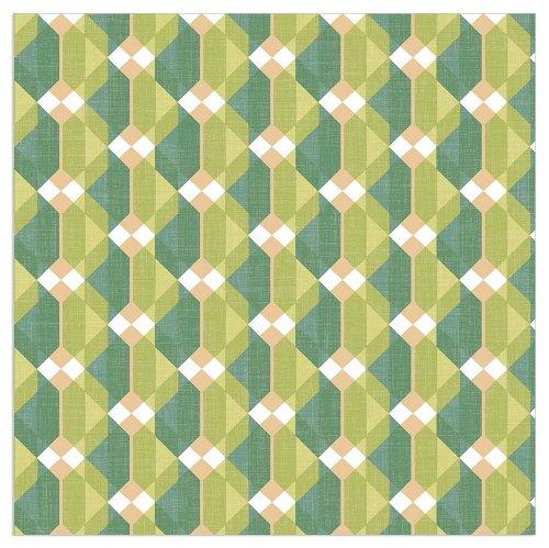 Napkin houndstooth pattern green
