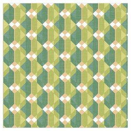 Napkin houndstooth pattern green