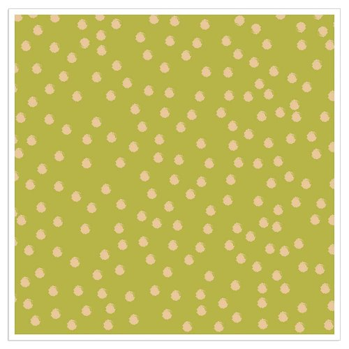 Napkin dots gold green