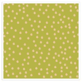 Napkin dots gold green