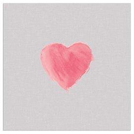 Napkin heart taupe