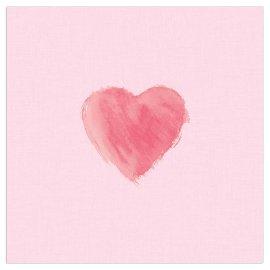 Napkin heart rose