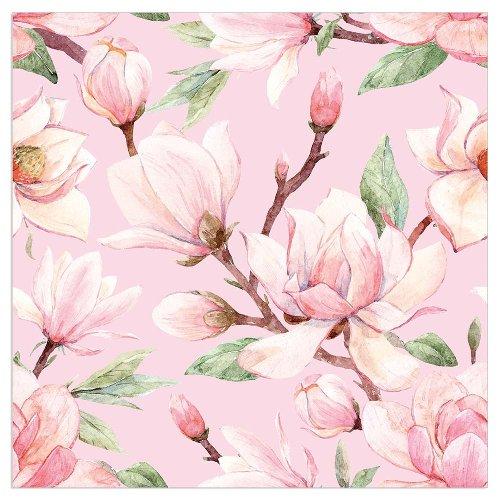 Serviette Blüte Magnolie Rosè