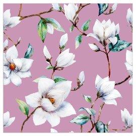 Serviette Blüte Magnolie Lila