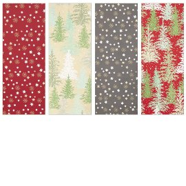 Wrapping paper set 5 rolls xmas