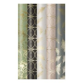 Wrapping paper set 5 rolls Finest flowers feathers