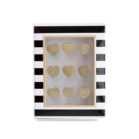 drawing pins/9 pcs./metal/hearts
