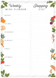 menu planner/16,5x23cm